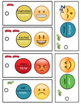 Self-regulation cards for Kindergarten - bilingual