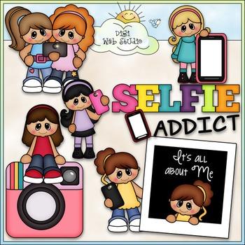 Selfie Addict Clip Art - Selfies Clip Art - Pictures - CU