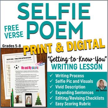 SELFIE Free Verse Poem  5-8