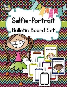 Selfie-Portrait Bulletin Board Set