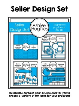 Seller Design Bundle: Bright Blue {Graphics for Commercial Use}