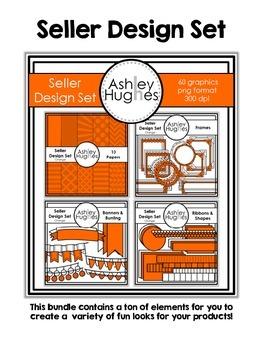 Seller Design Bundle: Orange {Graphics for Commercial Use}