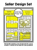 Seller Design Bundle: Yellow {Graphics for Commercial Use}