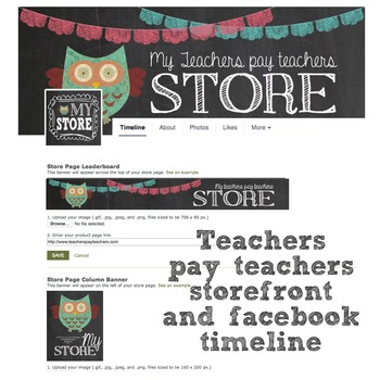 Sellers Chalkboard Owl storefronts for Facebook and Tpt