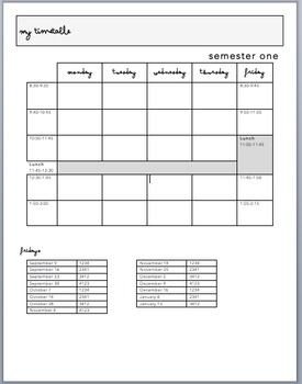 Semiahmoo Secondary 2016-17 Planner Pages