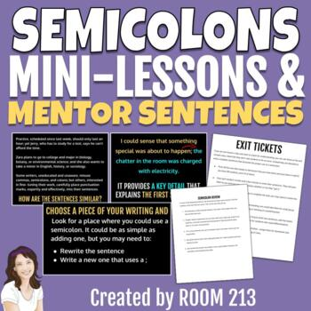 Semi-colons - Mentor Sentences for Secondary Students