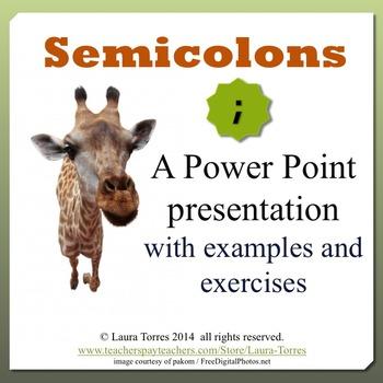Semicolons Power Point Presentation