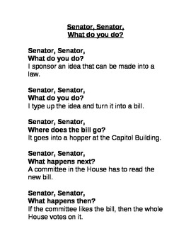 Senator, Senator, What Do You Do?