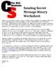 Sending Secret Binary Message Worksheet