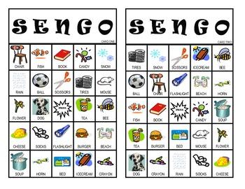 """""""Sengo""""  Senses BINGO Game"""