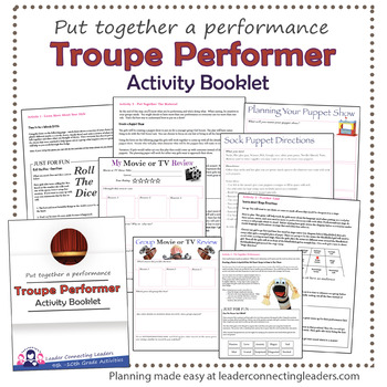 Senior Girl Scout Troupe Performer Badge Complete Booklet