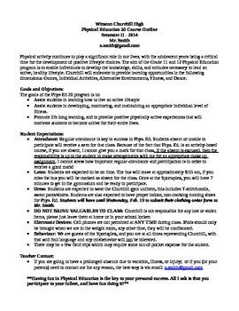 Senior High Physical Education Course Outline