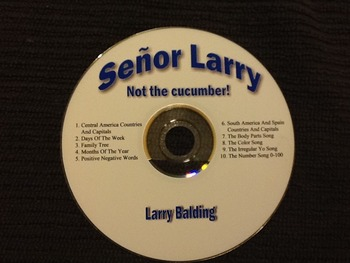 Señor Larry Not the Cucumber album (10 songs)