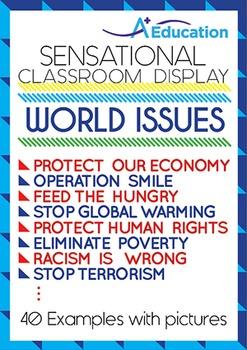 Sensational Classroom Display - WORLD ISSUES
