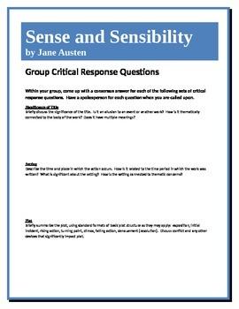 Sense and Sensibility - Austen - Group Critical Response Q