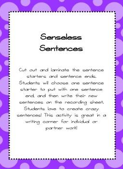 Senseless Sentences