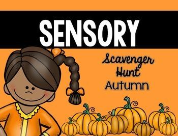 Sensory Bin Scavenger Hunt: Fall
