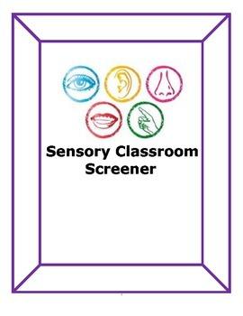 Sensory Classroom Screener: bundle