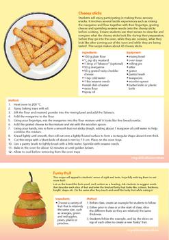 Sensory Cooking Ideas