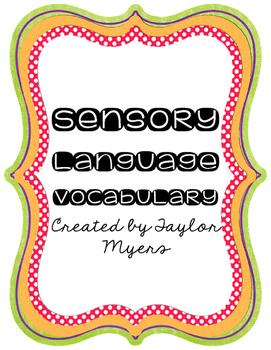 Sensory Language Vocabulary