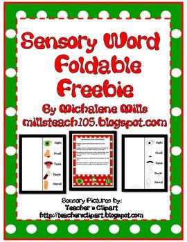 Sensory Word Foldable Freebie