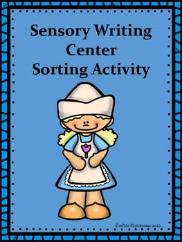 Sensory Writing Sort Activity