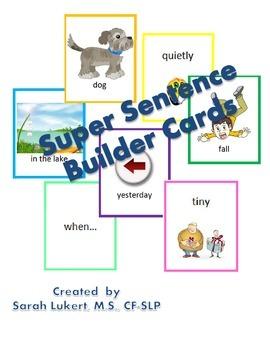 Sentence Builder Cards -- Upgraded