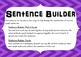 Sentence Builder Literacy Activity