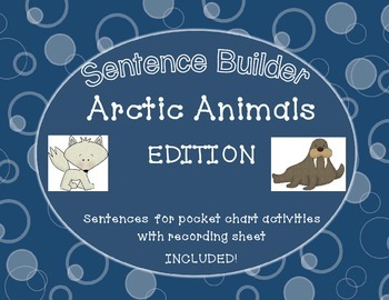 Sentence Builder Center ARCTIC animal edition with recordi