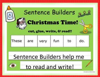 Sentence Builders - Christmas Time!!