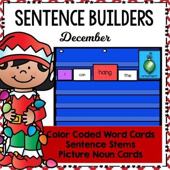 Sentence Builders Pocket Chart Center (December)