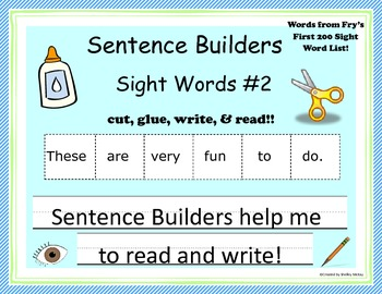 Sentence Builders: Sight Words Set 2