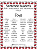 Sentence Builders for Articulation and Pronouns - Christma