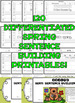 Sentence Building Worksheets (Cut and Paste Sentence Scram