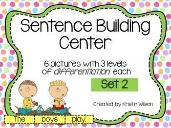 Sentence Building Center Set 2