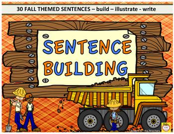 Sentence Building - Fall Theme