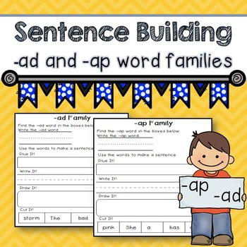 Word Family -ad -ap (Sentence Building)