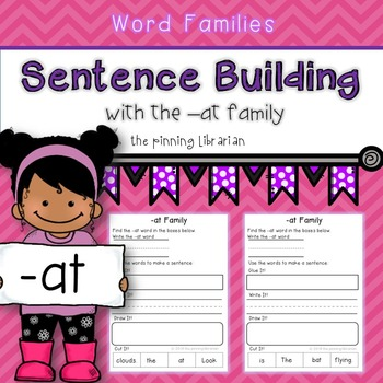 Word Family -at words (Sentence Building)