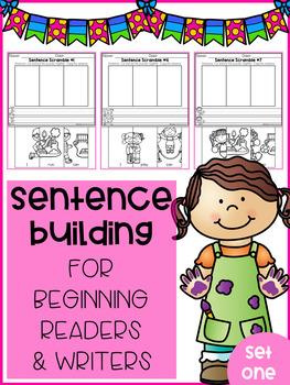 Sentence Building for Beginning Readers & Writers (SET 1)
