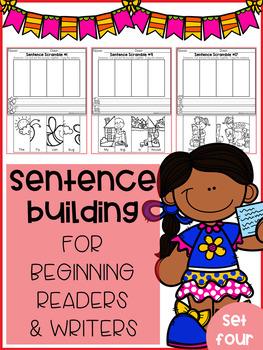 Sentence Building for Beginning Readers & Writers (SET 4)