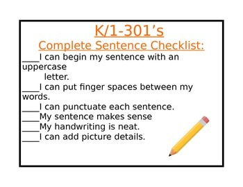 Sentence Checklist