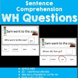 Sentence Comprehension-WH Questions
