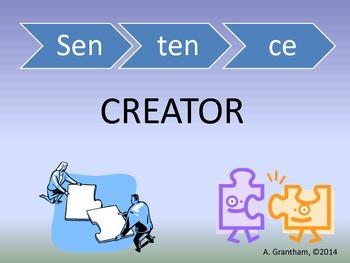 Sentence Creator Center
