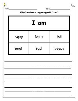 Sentence Development Activity