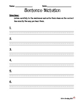 Sentence Dictation Assessment