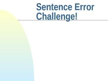 Sentence Errors Challenge!