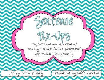 Sentence Editing Center Activity
