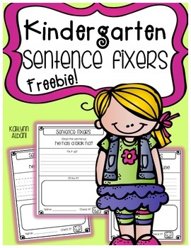 Sentence Fixers for Grammar, Sight Words and Writing! Freebie!!