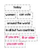 Sentence Fluency Writer's Workshop (Social Justice/ Women'
