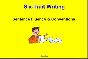 Sentence Fluency and Conventions